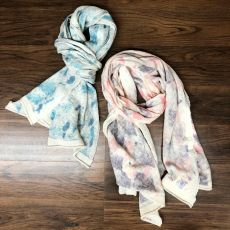Watercolor Baby Alpaca Scarf